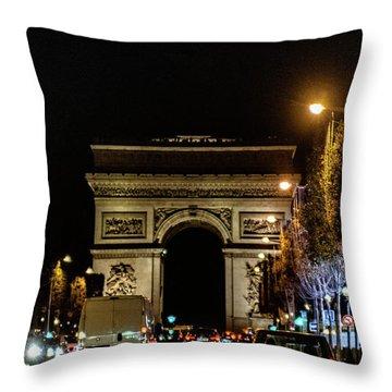 Throw Pillow featuring the photograph Arc De Triomphe by Randy Scherkenbach