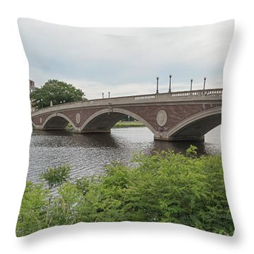 Arch Bridge Over River, Cambridge Throw Pillow