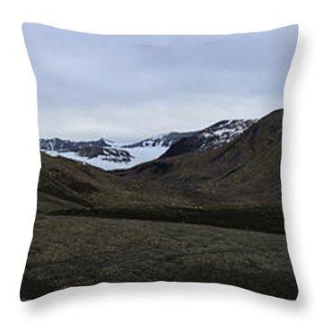 Arctic Mountain Landscape Throw Pillow