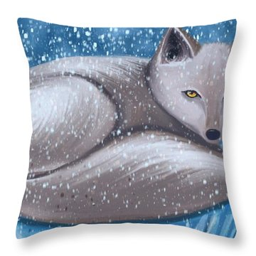 Arctic Survivor  Throw Pillow