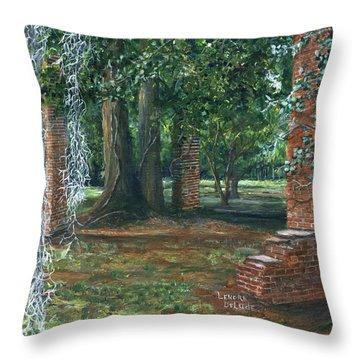 Ardoyne Ruins Near The Mansion, Houma, Louisiana Throw Pillow
