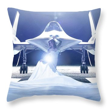 Area 71 A Nge Lien Throw Pillow