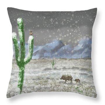 Arizona Blizzard Throw Pillow