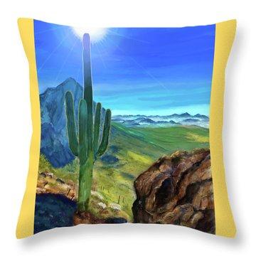 Arizona Heat Throw Pillow