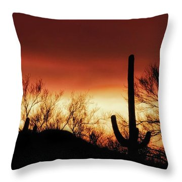 Arizona Monsoon Sunset 2019 Throw Pillow