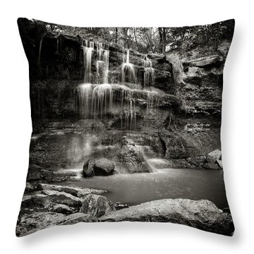 Rock Glen Falls Throw Pillow