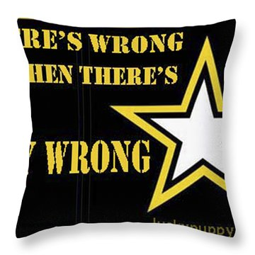 Army Wrong Throw Pillow