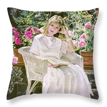 Arrangement In White Throw Pillow