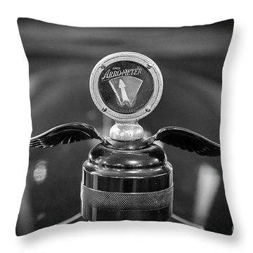 Arro-meter Hood Ornament Throw Pillow