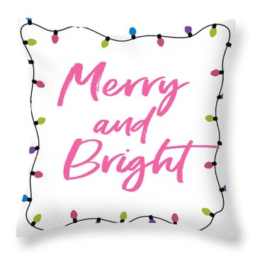 Merry And Bright -art By Linda Woods Throw Pillow