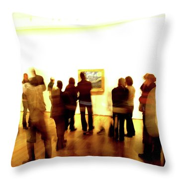 Throw Pillow featuring the photograph Art Gallery, Van Gogh by Edward Lee