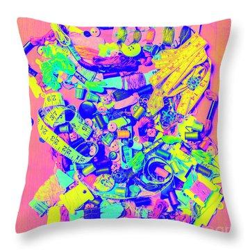 Art Of A Tailor Throw Pillow
