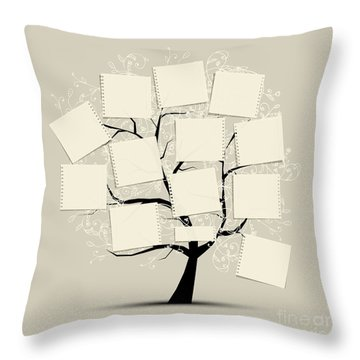 Note Throw Pillows