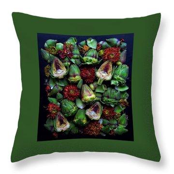 Artichoke Art Throw Pillow