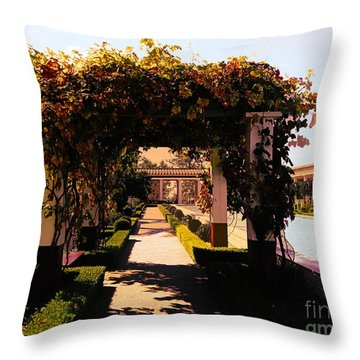 Artistic Courtyard Getty Villa  Throw Pillow