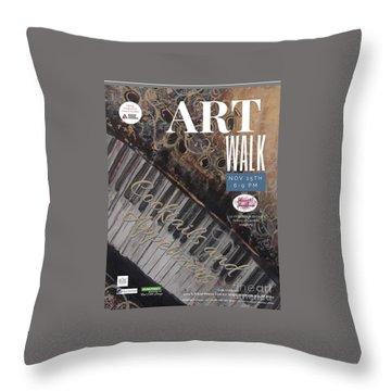 Artwalk Art Show Scottsdale  Throw Pillow