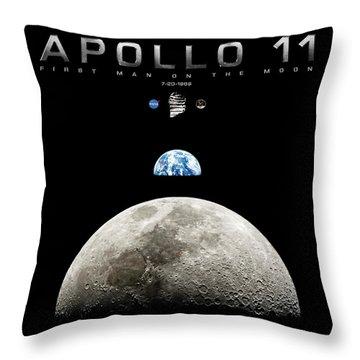 Apollo 11 First Man On The Moon Throw Pillow