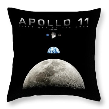 Apollo 11 First Man On The Moon Throw Pillow