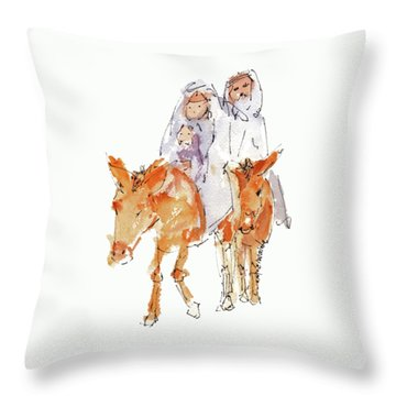 Praise You Jesus Watercolor Painting By Kmcelwaine Throw Pillow