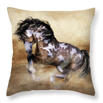 Wild And Free Horse Art Throw Pillow