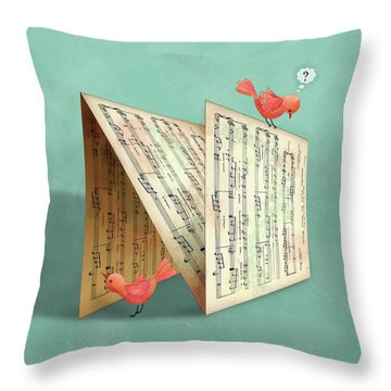 N Is For Notes Throw Pillow