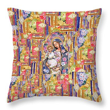 Panagia Eleousa Throw Pillow