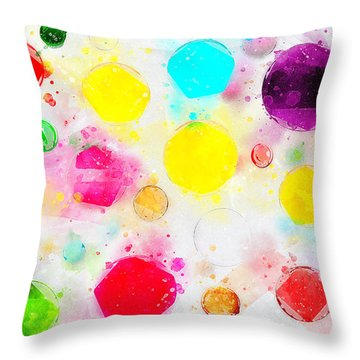 Rejoice And Take \courage/ Throw Pillow