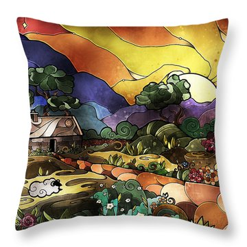 The Shepherd's Cottage Throw Pillow