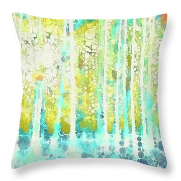 Sherwood Pines Abstract Art Throw Pillow