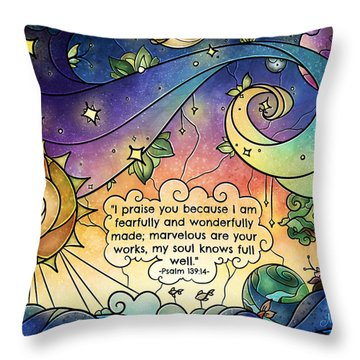 Fearfully And Wonderfully Made By Him Throw Pillow
