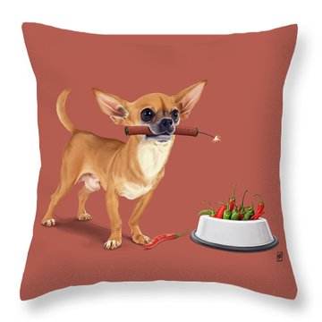 Throw Pillow featuring the digital art Spicy by Rob Snow