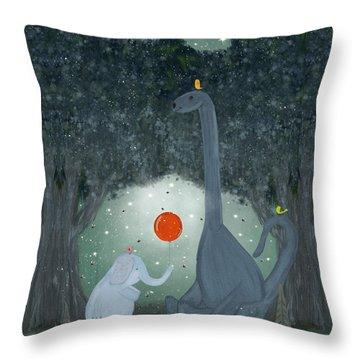 The Last Dinosaur Throw Pillow