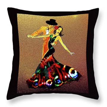 Throw Pillow featuring the painting La Fiesta by Valerie Anne Kelly