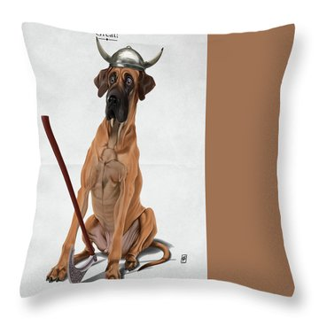 Throw Pillow featuring the digital art Great by Rob Snow