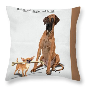 Throw Pillow featuring the digital art The Long And The Short And The Tall by Rob Snow