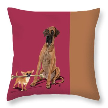 Throw Pillow featuring the digital art The Long And The Short And The Tall Colour by Rob Snow