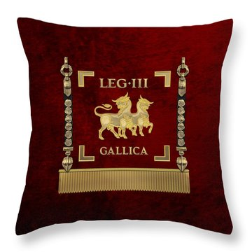 Standard Of The Gallic Third Roman Legion - Vexillum Of Legio IIi Gallica Throw Pillow