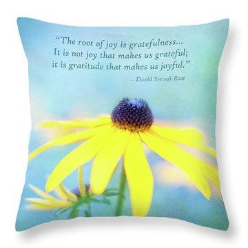 Joy And Gratefulness Throw Pillow