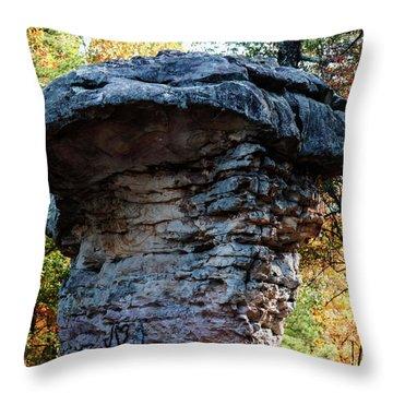 Mushroom Rock Endures Throw Pillow