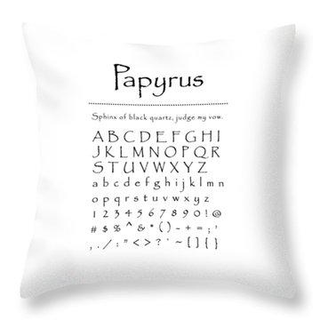Papyrus - Most Wanted Throw Pillow