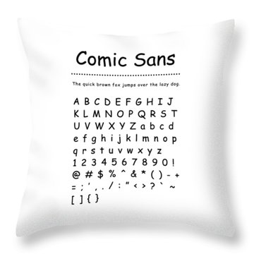 Comic Sans - Most Wanted Throw Pillow