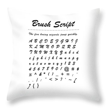 Brush Script - Most Wanted Throw Pillow