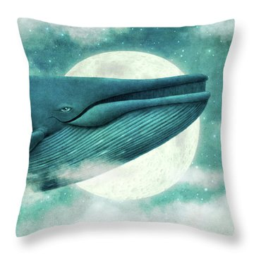 The Great Whale Throw Pillow