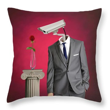 Throw Pillow featuring the digital art Paparazzi by Rob Snow