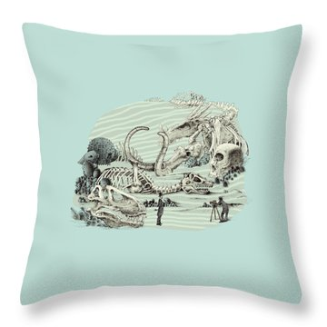 The Lost Beach Throw Pillow