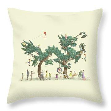 The Dragon Tree Throw Pillow