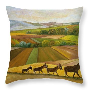 Sunday Promenade Throw Pillow