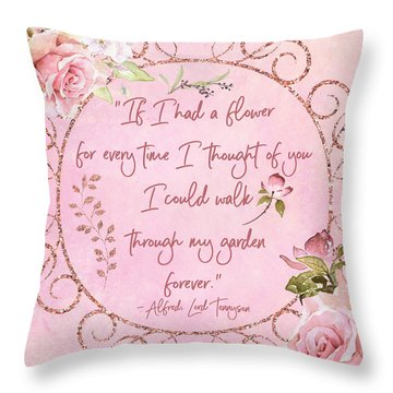If I Had A Flower Love Artwork Throw Pillow