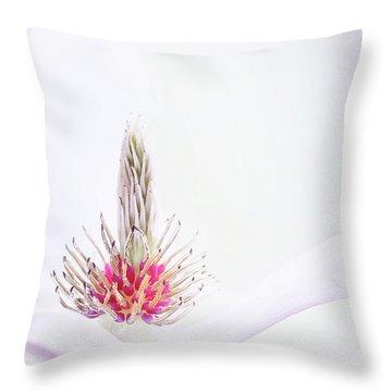 The Heart Of A Magnolia Throw Pillow