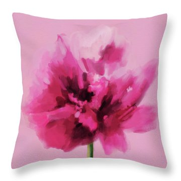 Hot Pink Carnation Throw Pillow